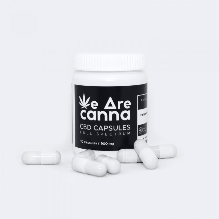 Cannabis Oil Blended With Cacao Butter 30mg CBD/CBDA Capsules