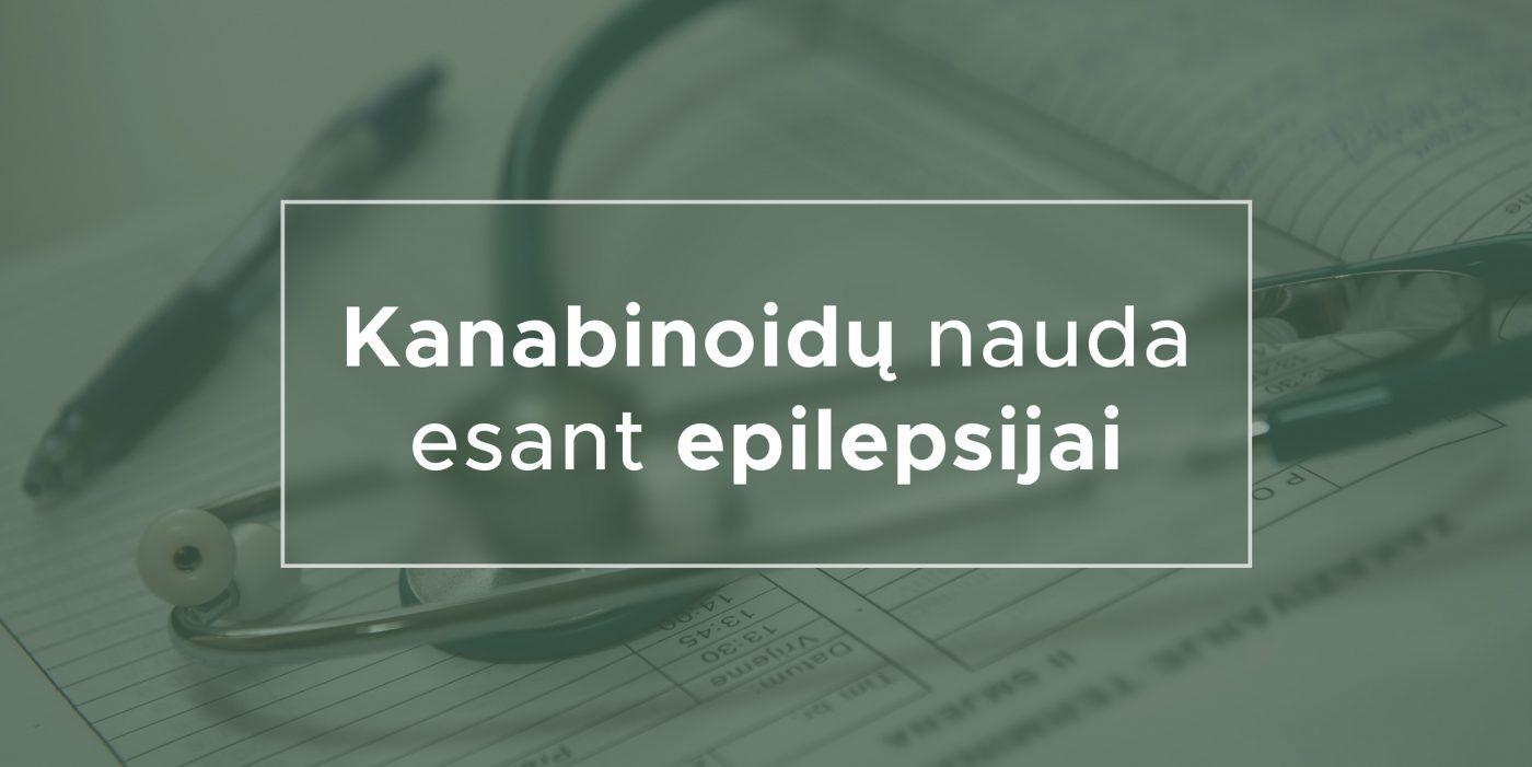 Kanabinoidų nauda esant epilepsijai