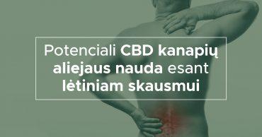 Potenciali CBD kanapių aliejaus nauda esant lėtiniam skausmui